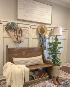 Spring Entry-Updated Entry- Church Pew-French market bag-French Country-Farmhouse You are in the right place about country farmhouse decor southern living Here we offer you the most beautiful pictures French Country Kitchens, French Country Farmhouse, French Country Style, French Country Decorating, Top Country, Farmhouse Kitchens, White Kitchens, French Cottage, Cottage Chic