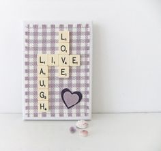 Scrabble Art - LIVE LAUGH LOVE  - home decor - Scrabble Picture - Word Art £12.50 #Folksy