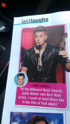 Jimmy Kimmel on Justin Bieber winning an award