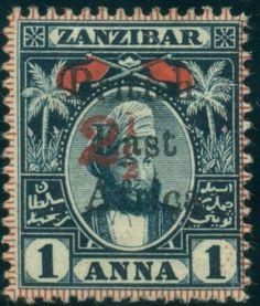 BRITISH-EAST-AFRICA-96-Overprint-on-1a-Zanzibar-type-b-unused-no-gum-VF, $165 buy it now