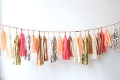 confetti system: tassel garlands