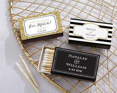 SET of 50 Personalized Matches Custom Matches by EventDazzle