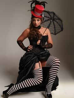 Plus Size Thigh Highs. These striking black and white stripped stockings are perfect for a Halloween costume or to accent that little black dress. Available in 1-2x 3-4x #Plussize