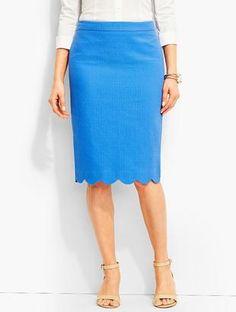 Shop Now - >  https://api.shopstyle.com/action/apiVisitRetailer?id=627783778&pid=uid6996-25233114-59 Floral Matelasse Pencil Skirt  ...