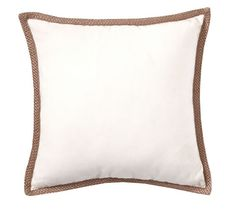 Synthetic Trim Indoor/Outdoor Pillow | Pottery Barn $39.50