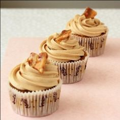 Coconut Coffee Cupcakes with silky-smooth Peanut Butter Swiss Meringue Buttercream and Peanut Brittle