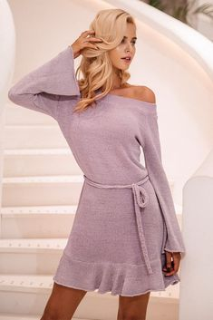 549a0b57d47a Off Shoulder Knitting Sweater Dress  fashion  style  love  shopping Off  Shoulder Sweater