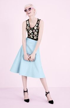 Tildon Crop Top & ASTR Midi Skirt  available at #Nordstrom