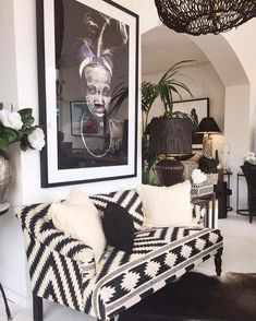 Best Tribal Decor Living Room - Daily Home Wall Home Interior, Modern Interior, Kitchen Interior, African Living Rooms, African Bedroom, Decoration Hall, Home Design, African Interior Design, African Design