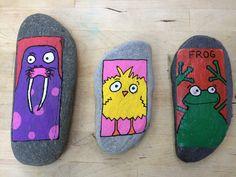 Painted stones posca pens