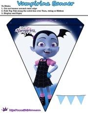 Printable Vampirina Banner Free Disney Junior Vampirina Printable Party Kit