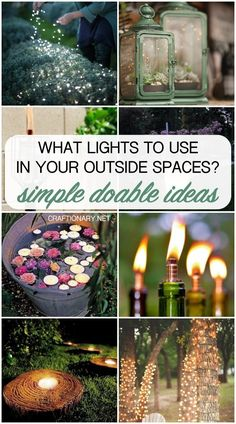 Learn about DIY garden lights that will help you choose the best ones for your outside space. Add DIY outdoor lights to light up your garden, backyard or even a patio with these simple and easy ideas that are perfect for any size space and plan.