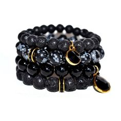 ISABELLA TROPEA Gemstone Bracelet Set ($160) ❤ liked on Polyvore featuring jewelry, bracelets, gemstone jewelry, stacked bracelet set, gem jewelry, 14k bangle and 14k jewelry