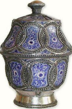 Moroccan Ceramic Butter Jar