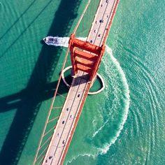 #ca #sf #sanfrancisco #ggb #goldengatebridge #boat #pacific #dronephotography #drone #dronestagram #dji #djimavicair #djimavic