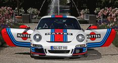 Germany Is Mad for Car Wraps! Martini-style Racing Livery by CAM SHAFT for the Porsche 911 GT3