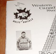 White Buffalo Western Canadian Sweater His or Hers by Mostable, $7.00