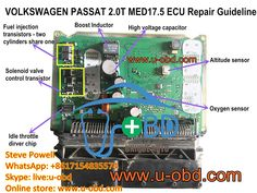 Volkswagen ECU MED17.5 repair kit repair method repair guide book