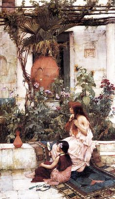 L'art magique: John William Waterhouse (1840-1917) La Toilette ou a Capri