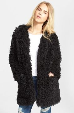$237, Smythe Mongolian Faux Fur Coat. Sold by Nordstrom. Click for more info: https://lookastic.com/women/shop_items/340794/redirect