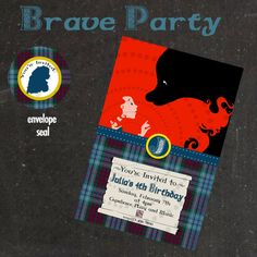 Brave Merida Invitation  - Printable File - PDF - Printable Party