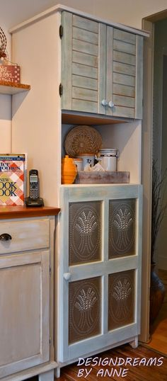 How to make a plain cabinet look like a vintage pie safe