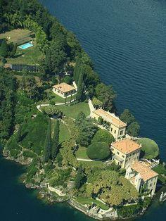 Villa del Balbianello, this entire peninsula is one stunning villa in Lake Como, Italy