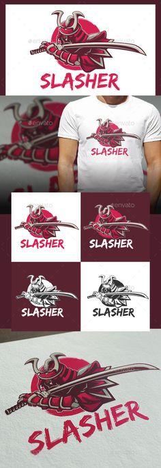 Slasher Logo Template Vector EPS, AI Illustrator