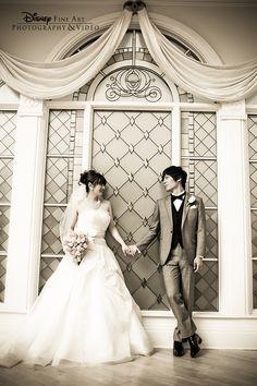 A gorgeous portrait of a couple in Disney's Wedding Pavilion