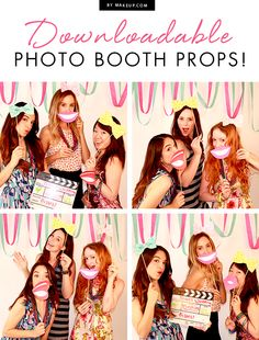 Love a good party? Try our free downloadable photo booth props for your next soirée!