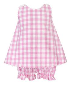 Look what I found on #zulily! Pink Gingham Swing Top & Bloomers - Infant #zulilyfinds