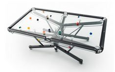 The ultimate glass pool table for any modern game room, Nottage Design pool tables blend ultra modern styling, with state of the art technology. Casa Rock, Magazine Deco, Moderne Pools, Man Cave Accessories, Modern Games, Modern Game Tables, Deco Design, Cool Pools, Smart Home