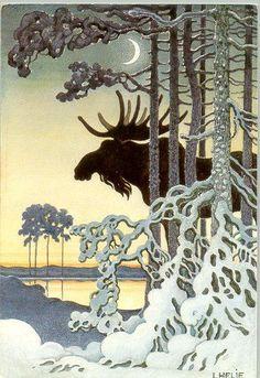 Nordic Christmas, Christmas Art, Illustrations, Book Illustration, Baumgarten, Inspiration Art, Scandinavian Art, Reno, Pretty Pictures
