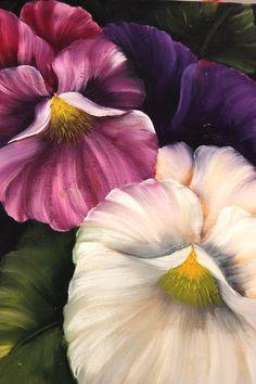 Como pintar flores - Pinceladas de  Silvia Mongelos