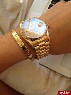 Cartier Cuff and Rolex President