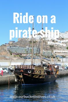 Ride on a pirate ship - bucket list tick from www.ourbucketlistlives.co.uk
