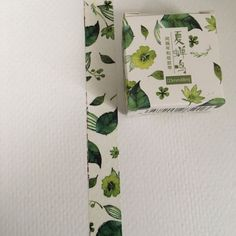Boxed Washi Tape Nature Green Leaves Tree by ThePurpleOnionBooks