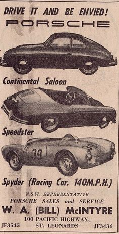 Visit our website for more info on vintage cars. It is actually a great area to get more information. Vw Vintage, Vintage Porsche, Vintage Racing, Vintage Signs, Porsche 356 Speedster, Porsche 550, Porsche Sports Car, Porsche Cars, Ferdinand Porsche