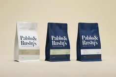 Visual identity and packaging for one of Sydney's most respected coffee roasteries Pablo & Rusty's designed by Manual.