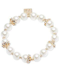 Premier Designs Jewelry Gold Tone Cut cyrstals Fleur Charme Perle Boucles d/'oreilles pendantes