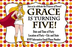 Custom Made SheRa and HeMan Birthday Party by JessiesLetters, $11.00