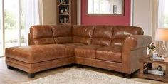 Image result for brown leather corner sofa