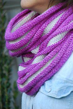 Ravelry: Terrain pattern by Jennifer Ferrara Cowl Scarf, Knit Cowl, Knitted Shawls, Knit Crochet, Knit Scarves, Knitting Patterns Free, Knit Patterns, Free Knitting, Free Pattern