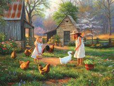 Деревня в живописи