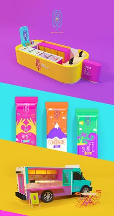 """Goovi is a brand of """"Brazilian paletas"""" with a young, innovative soul and a wide range of flavours. The name is the union between the words """"Good"""" and """"Vibes"""". To represent the essence of the brand, we used vibrant colours and situations that bring the id…"""