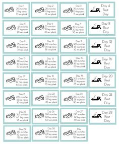 30 day ab challenge planner stickers