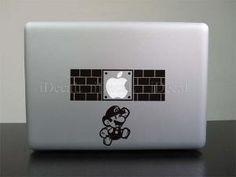Running Mario Apple Macbook Decal Humor Vinyl Sticker by yucao Macbook Decal, Laptop Decal, Macbook Pro, Apple Iphone Wallpaper Hd, Mac Decals, Diy Laptop, Apple Stickers, Elephant Walk, Tech Humor