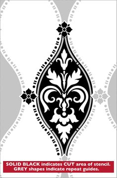 Repeat No 17 stencil from The Stencil Library GOTHIC, MEDIEVAL AND TUDOR range. Buy stencils online. Stencil code GMT47.