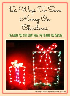 January is the perfect time to start thinking about Christmas especially if you want to keep costs low.