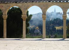 Jerusalem. View to the Mount of Olives from the Temple Mount. Photograph by Martie van Niekerk